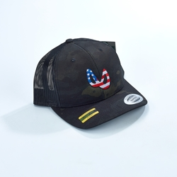 Team Infinity Flag Mobius Snapback Hat - Black Multicam